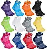 Rainbow Socks - Hombre Mujer Calcetines Deporte Colores de Algodón - 12 Pares - Multicolor - Talla...