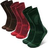 DANISH ENDURANCE Calcetines de lana merino para senderismo y caminar, 3 paquetes, para hombres,...