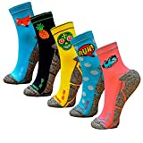 HOOPOE Pack Calcetines Running Mix, 5 Pares, Hombres, Mujer, Divertidos, Foxblue, Skully, Comic,...