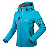 CIKRILAN Mujer Chaqueta Softshell Resistente al agua chaqueta al aire libre Ladies Deportes Camping...