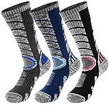 VBIGER 3 pares Calcetines de Invierno Térmico para Hombre Largo Algodón Calcetines de deportivos...