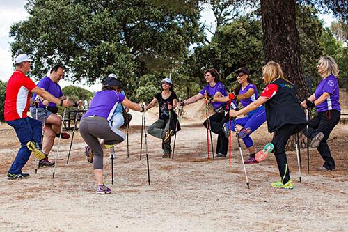 ejercicio y el nordic walking