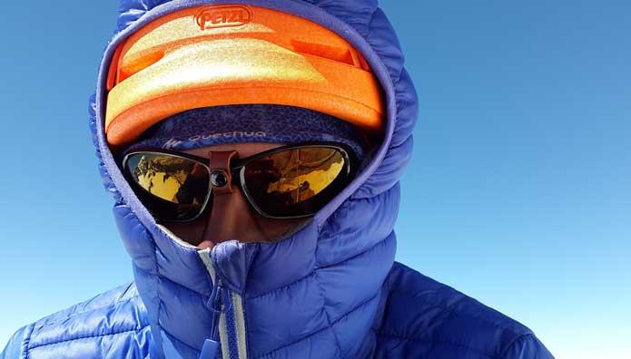 ropa de invierno marcha nórdica